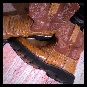 Ariat fatbaby ostrich skin boots